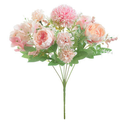 Artificial Silk Flowers Blossom Bridal Bouquet For Home Wedding Decoration