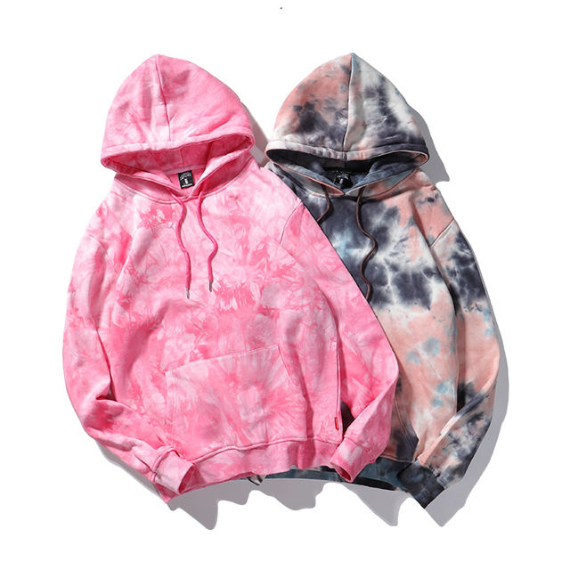 custom 100% cotton french terry oversized tie dye hoodie