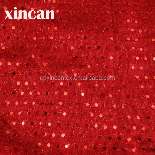 lurex glitter fabric ready goods American knit with 3mm spangle sequin mesh fabric