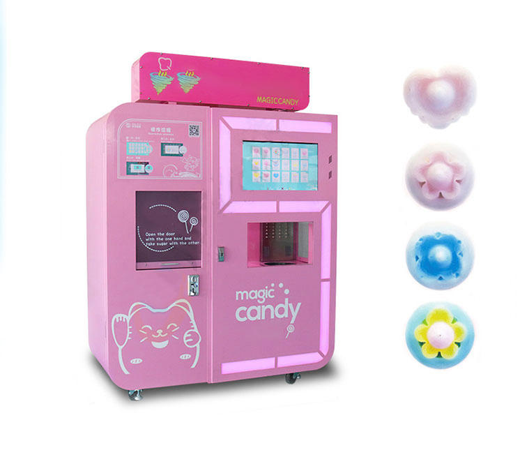 Custom Marshmallow Cotton Candy Machine Automatic Cotton Candy Maker for Shopping Mall