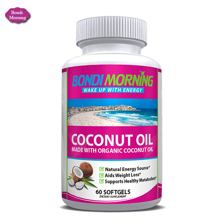 Dietary Supplement Virgin Coconut Oil Capsules for Boost Energy