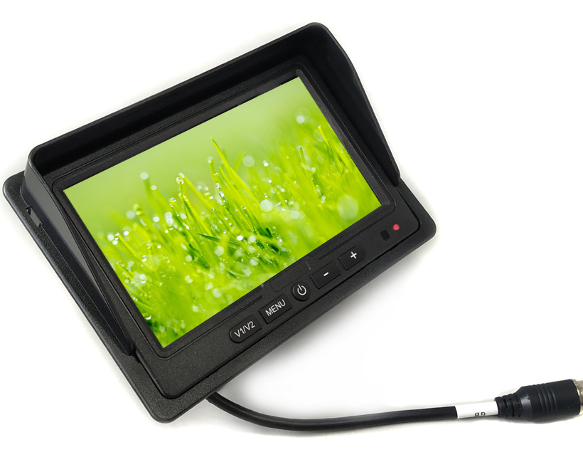 Bus Video Surveillance System 7 Inch LCD Display Screen