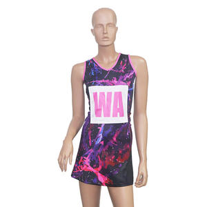 High Quality Custom Printing Women Girls Quick Dry Badminton Netball Tennis Wear Tennis Dress