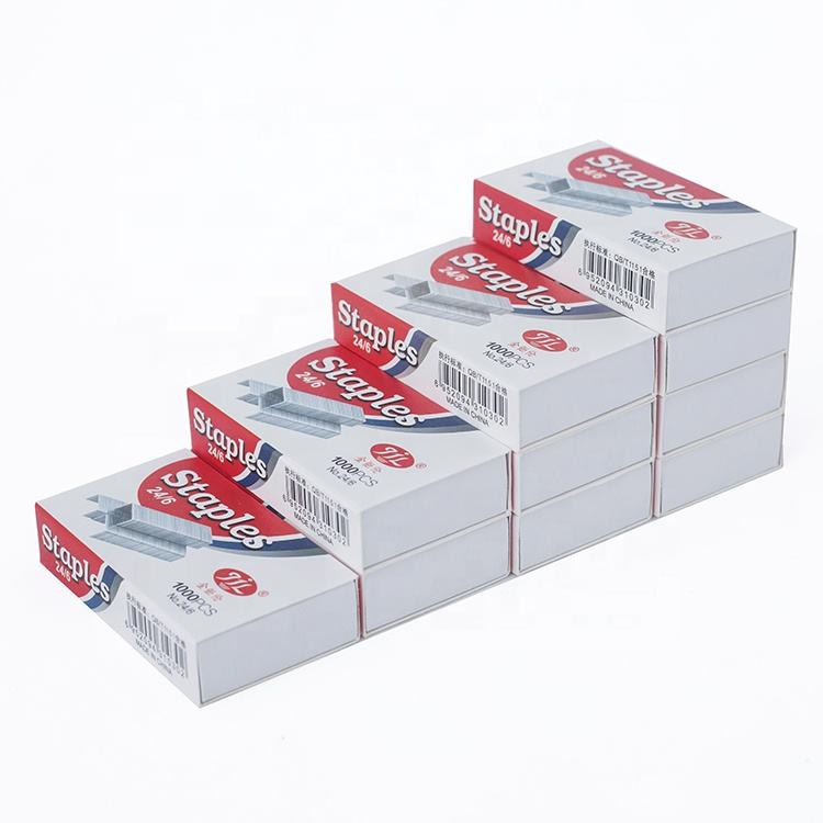 Normal Staple Good Price Factory Supply Standard Staples 24/6 Paper Staples Exported To Worldwide