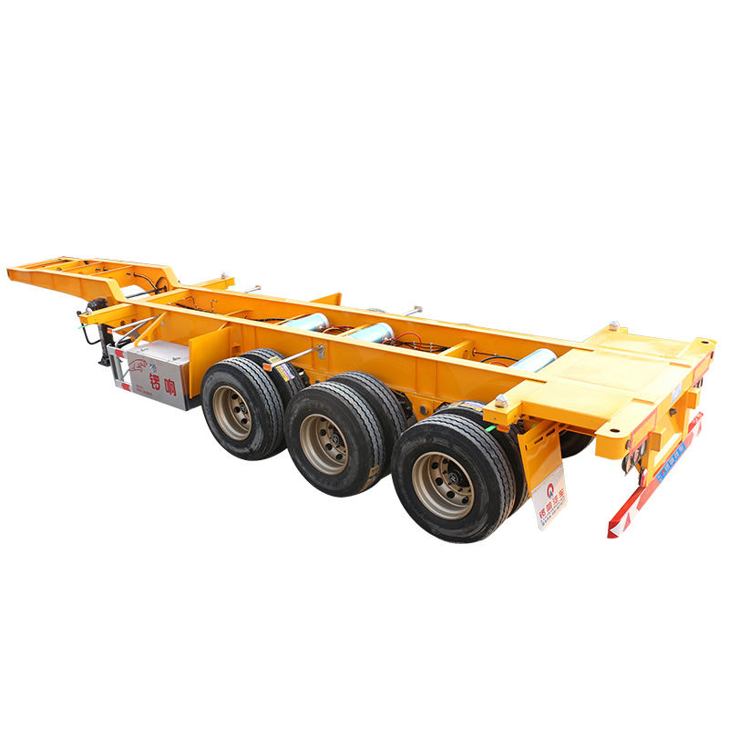 Trung quốc Mới Phổ Biến 3 Trục Skeleton Semi Trailer 40ft Container Trailer Xe Tải Để Bán Philippines