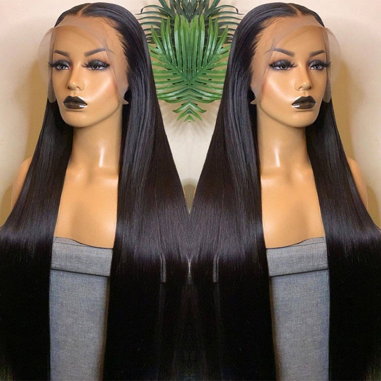 Lace Frontal Wig Vendors Wholesale Straight Transparent HD Lace Front Wigs For Black Women 100 Virgin Brazilian Human Hair Wigs
