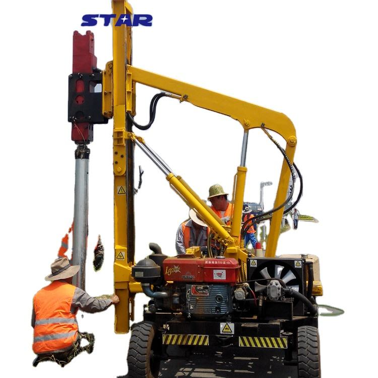 fence installation post driver ramming machine