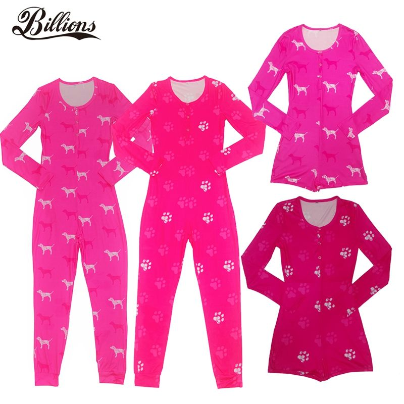 Hot Sell Pink Soft Bamboo Girl Set Nights Long Sleeve With Butt Flap Women's Sleepwear Sexy XXL Night One Piece Winter Pajamas