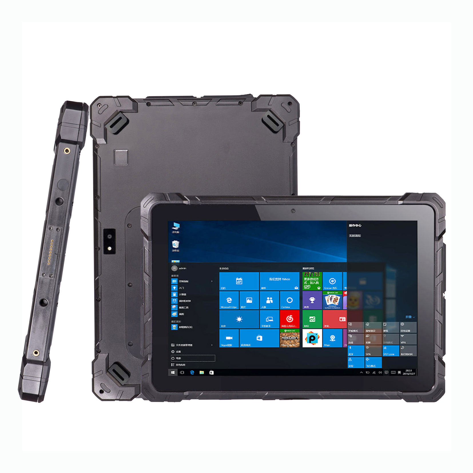 10.1 inch warehouse medical tablet computer IP67 Rugged industrial touch screen Mini PC