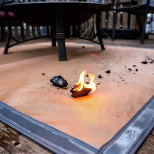 Protection Grill   Patio Fire Pit Pad Fireproof Mat Fire Pit Mat for Deck Visible at Night