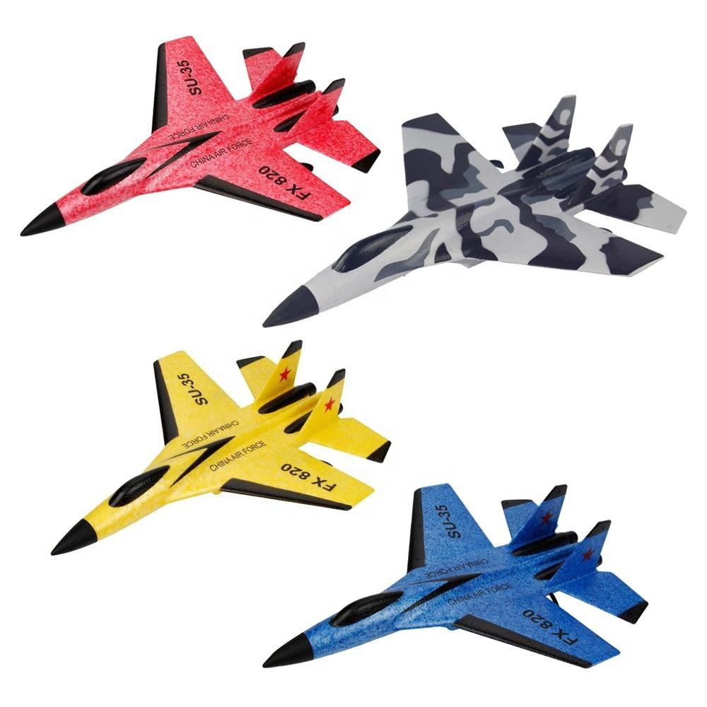 High Quality FX-820 RC Glider 2.4G 2CH SU-35 Airplane Fixed Wing EPP Foam Micro Outdoor Radio Control Toys Gift RTF