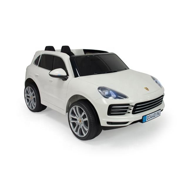 Licensed PORSCHE CAYENNE High Quality Two Seats 12V Battery Electric Car Kids INJUSA