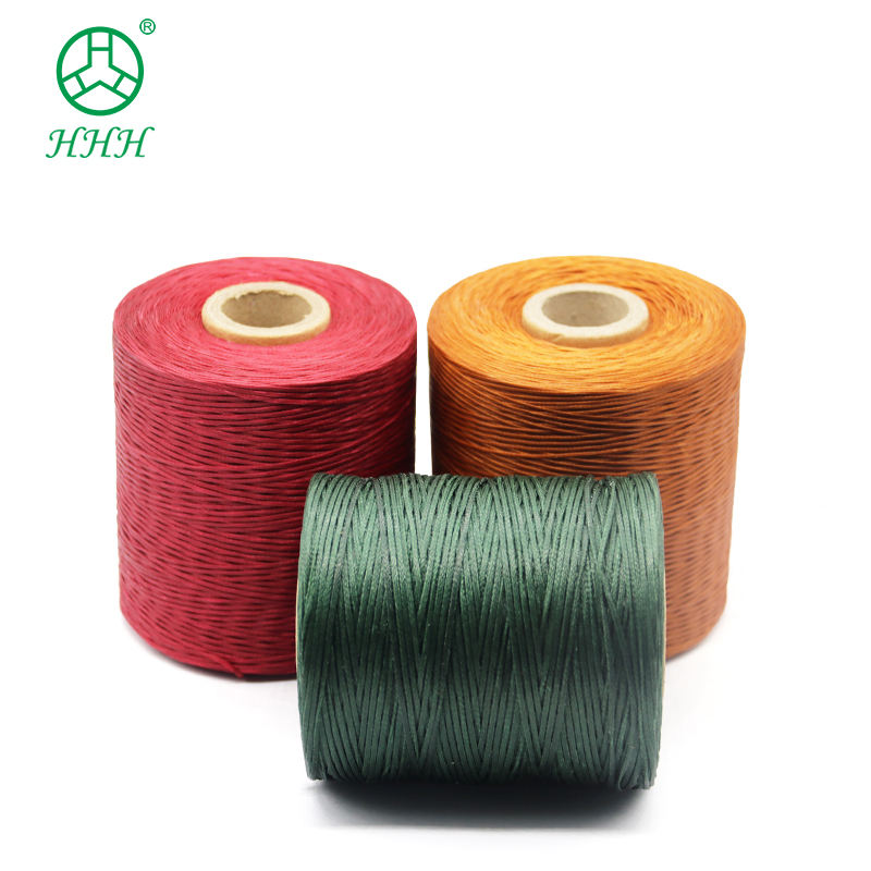 210D High Tenacity Polyester Sewing Flat Waxed Thread for Leather
