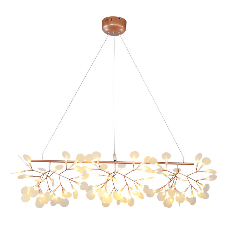 Nordic postmodern fancy rose gold pendant light led firefly living room dinning room chandelier