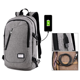 China cheap school usb backpack college student bag daypack backpack