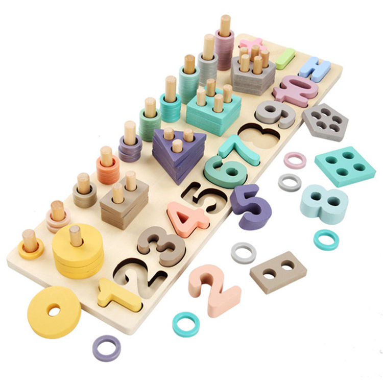 China Matching Board Baby Wooden Montessori Teaching Educational Toys For Kids 3+