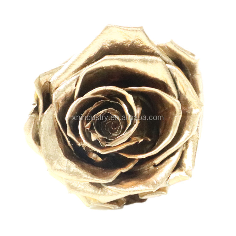 Indian Wedding Decoration Perfect Promotion Gift preserved rose Flower 24K Gold Plated Rose