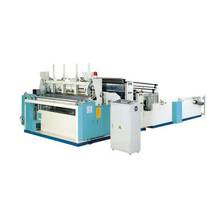 Machine for small business tissue toilet paper rewinding embossing perforating machine