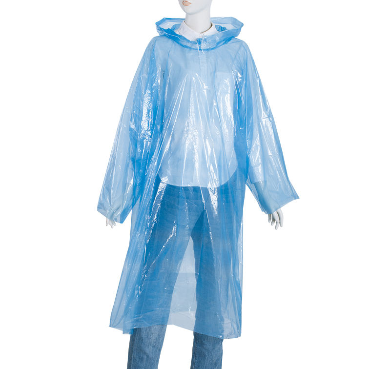 colorful PE disposable raincard portable pocket raincoat