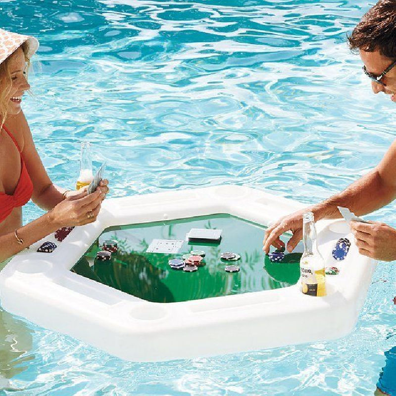 Pool furniture floating poker table plastic table dining table on the water