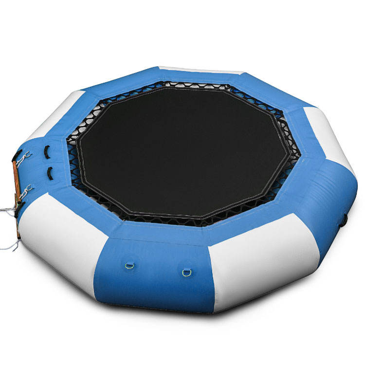 Floating water park game inflatable sea trampoline for sale