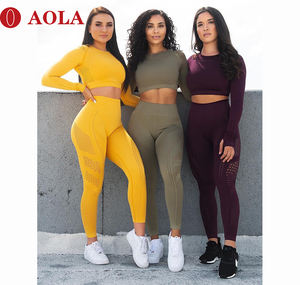 Seamless leggings for women yoga pants Dry Fit Mesh Fitness Gym Wear Jogging Yoga Pants