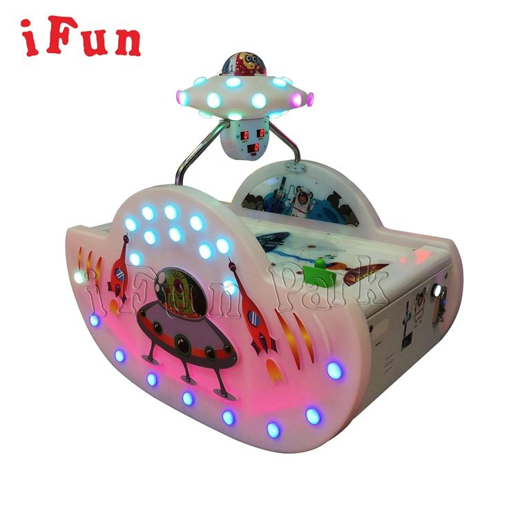 Amusement Equipment Coin Operated UFO Ice Air Hockey Table Game Machine For Kids And Adults
