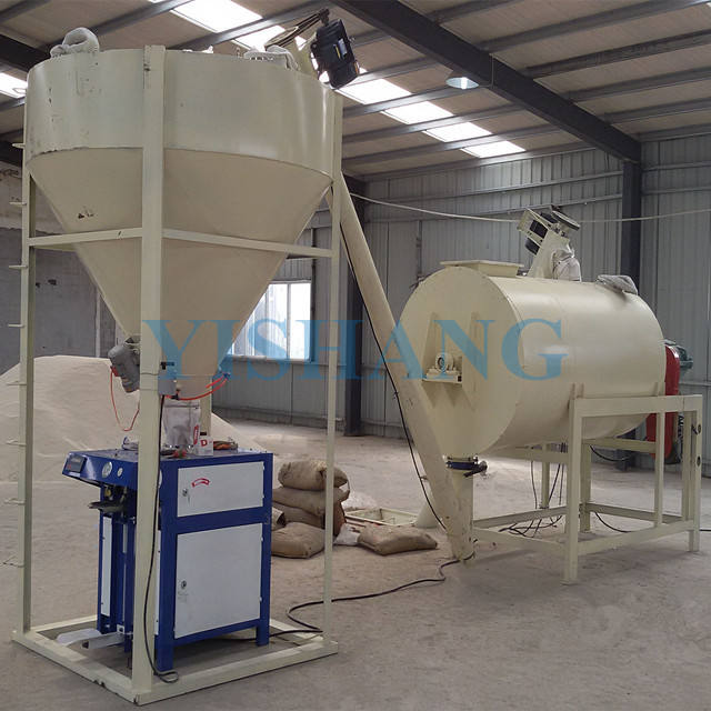 Wall putty skim coat ceramic tile adhesive glue bond masonry mortar making machine dry mixed mortar production line plant