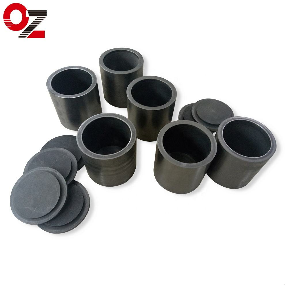 OUZHENG high density metal melting graphite pot graphite crucible for gold casting