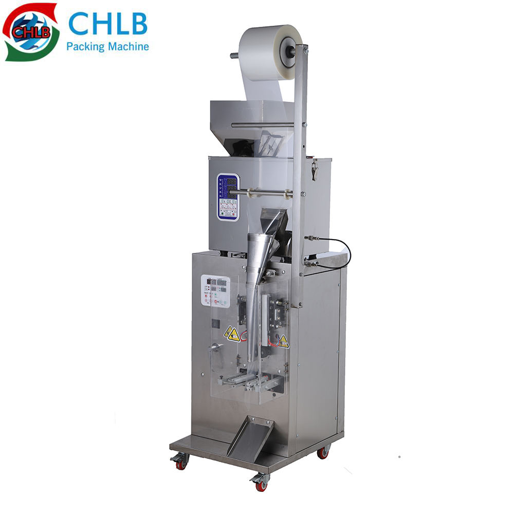 Automatic Snacks Granule Salt Sugar Spices Snus Powder Filling Cookies Bean Bag Packaging Low Cost Pouch Packing Machine