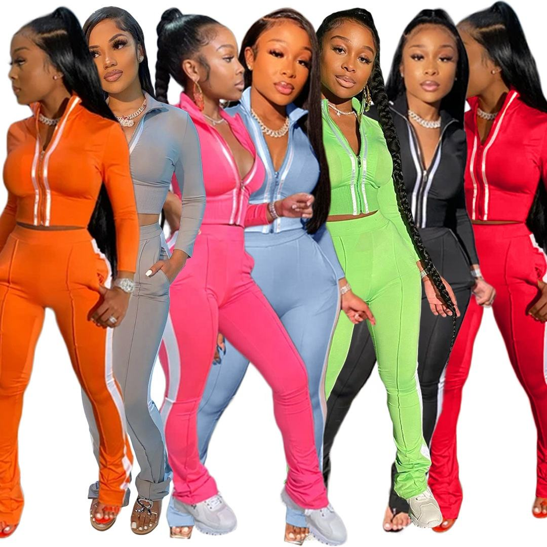 ARM-AC8199 custom logo tracksuit ladies tracksuit set two piece tracksuit women 2pcs set women