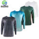Custom nanotechnology water resistant fabric men vented quick dry long sleeve fishing t shirt jersey uv protection