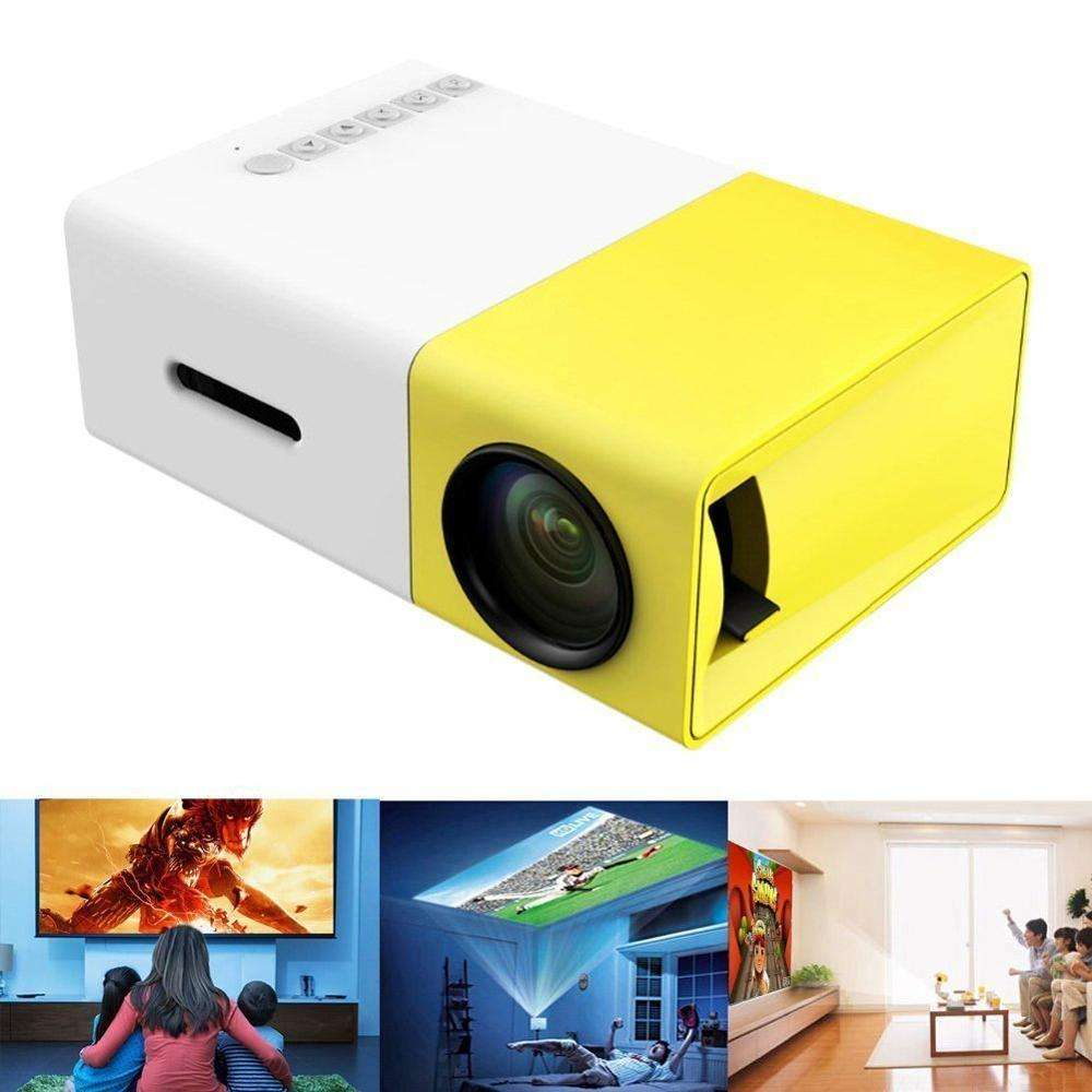 Harga Grosir 1080P LED Portable Mini Smart Home Theater Saku Lcd Projector YG300
