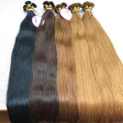 Hair Extensions In Beequeenhair Straight  tip remy cuticle aligned hair Wholesale price