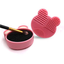 Silicone Eyeshadow Sponge Cleaner Pink Purple Silicone Box Dry or Wet Use Quick Clean Silicon Makeup Make up Brush Cleaner
