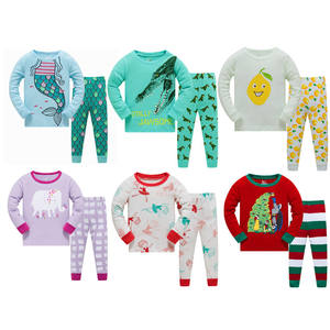Wholesale Cotton Pajamas High Quality Children Pijamas Kids Home wears dinosaur pattern for kids