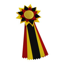 Factory handcraft award satin rosettes ribbons for horse racing