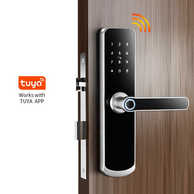 Best Price Waterproof Outdoor Password Code Card Key wifi smart door lock fingerprint