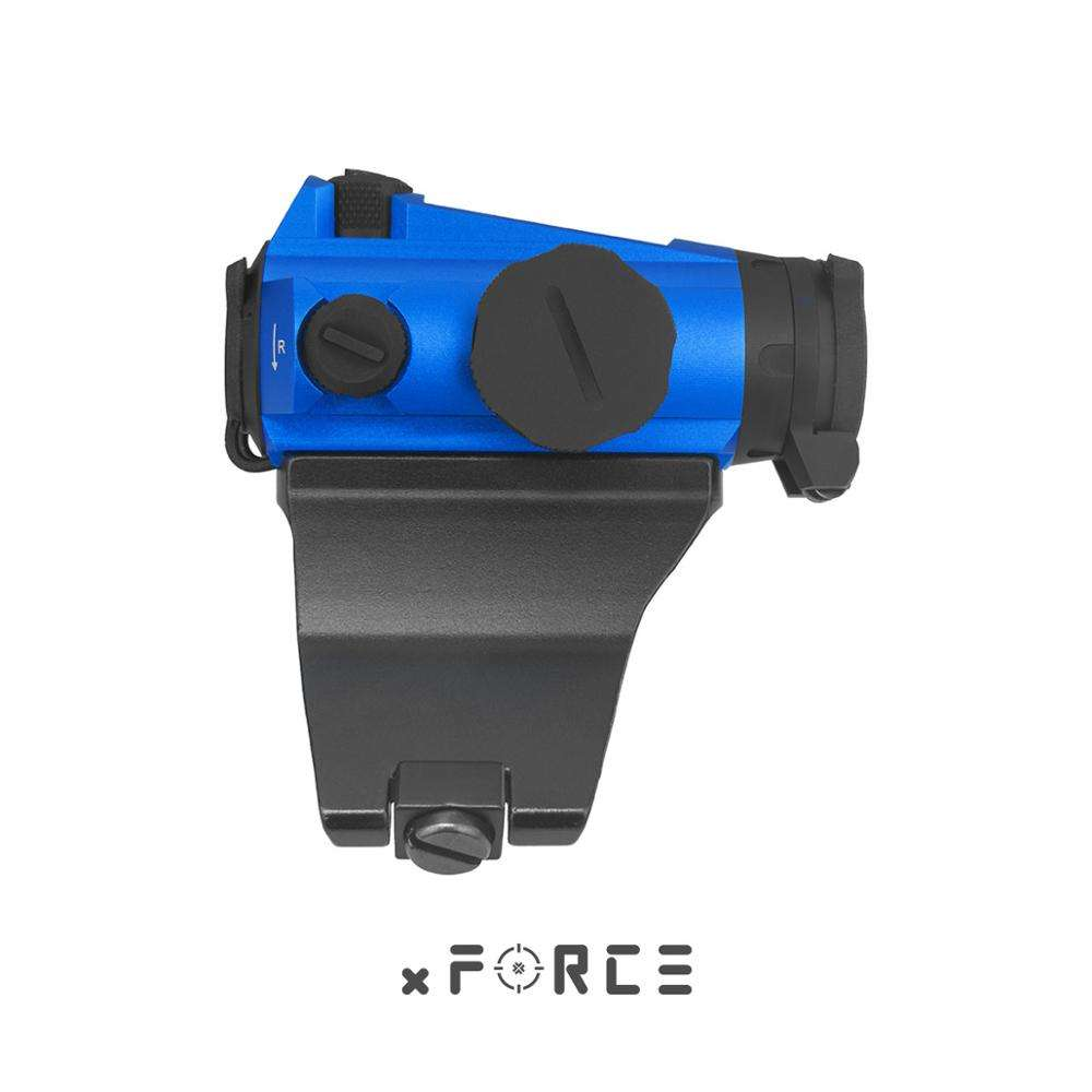 Xforce Xtsp Solar Red Dot Sight Met Lage & Qd & 45-Graden Offset Mount & Killflash / Kill flash (Blauw)