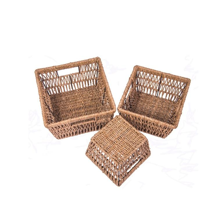Handmade Bamboo Woven Toys Clothes Storage / Laundry Basket