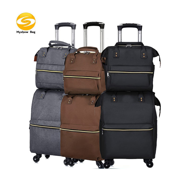 Luggage 2 piece Spinner Suitcase Collection,Softside Lightweight Expandable fashion luggage set,carry-on travel bag fro woman