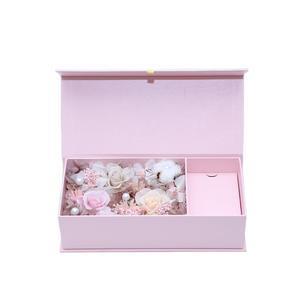 Rectangular One-piece Book Storage Box Creative Preserved Flower Floral Box Wedding Gift Box