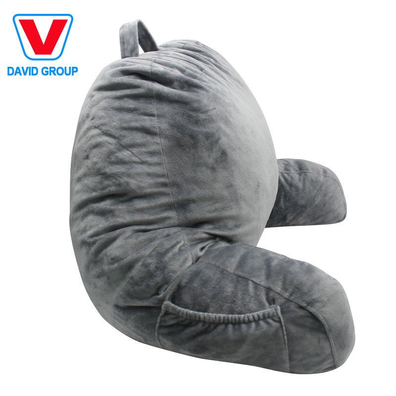 Wholesale Shredded Foam Reading Pillow with Detachable Neck Roll Pillow