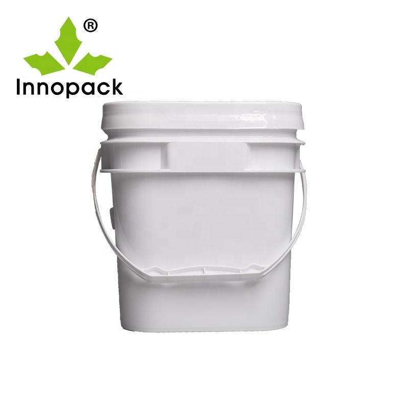 Manufactory direct 3.5L white square quality plastic bucket