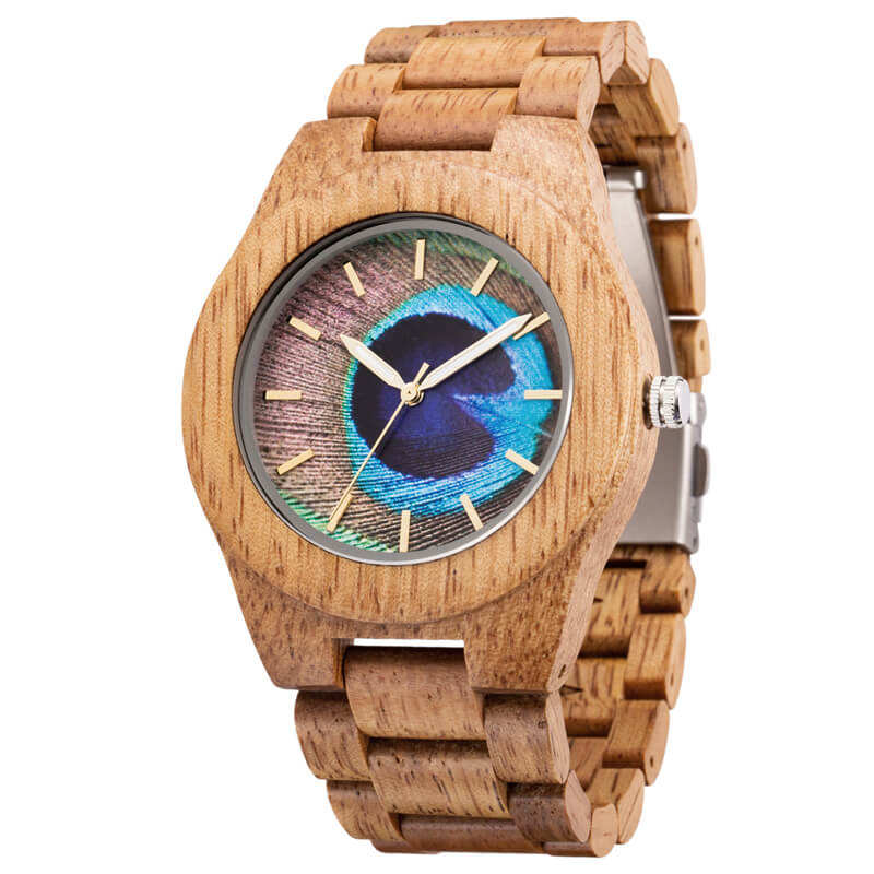 Dropshipping Luxury Unique Wood Watch Unisex Dial Hour Clock Quartz Watch Wooden Strap Mens Watches In Wristwatches