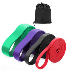 Natural latex Pull Up Assist Band Elastic Durable Stretching Yoga Fitness Power Resistance Band set