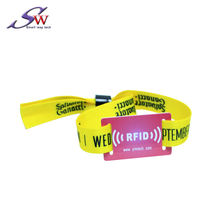 Amazon hot sales 13.56mhz Ultralight chip RFID Woven Wristband for events or tickets