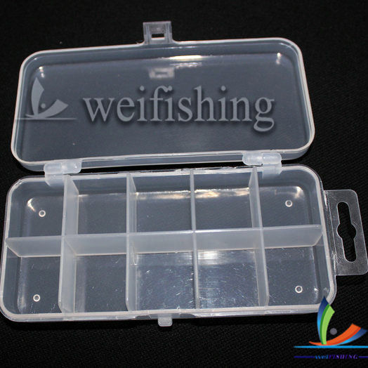 WEIHE 009# Cheap factory 10 compartments PP+ABS mini clear lure tackle box