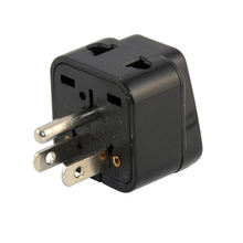 USA, Canada Adapter Plug by Bosslyn, Europe, China to US American Adaptor - Grounded - Type B - Universal Socket
