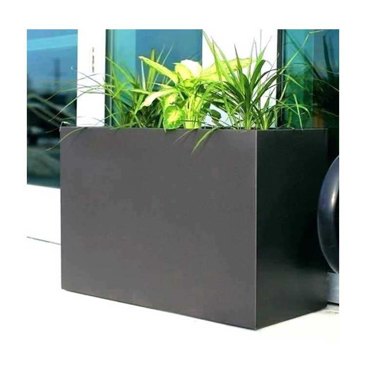 Vertical Garden Systems Flower Tree Planters Outdoor Pots for Plants Modern Large Plant Pot Black